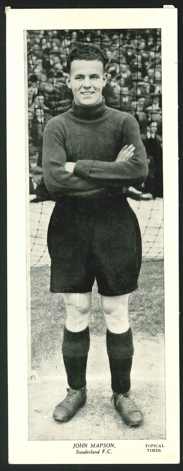 Topical Times Large B & W John Mapson Sunderland F C