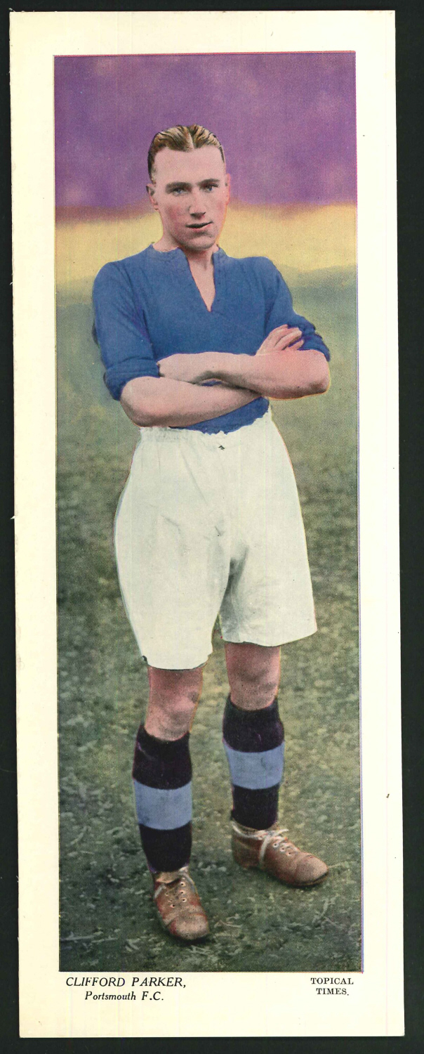 Topical Times Large Coloured Clifford Parker Portsmouth F C