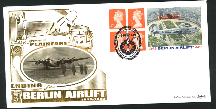 1999 - Berlin Airlift Commemorate Label First Day Cover - Lyneham RAF Station Postmark