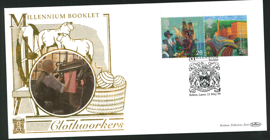 1999 - Millennium Booklet First Day Cover - Bolton Postmark