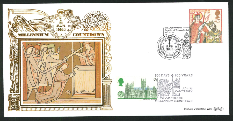 1997 - Millennium Countdown Commemorative Cover - 900 Days Countdown, Greenwich Postmark