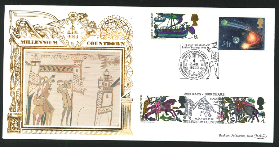 1997 - Millennium Countdown Commemorative Cover - 1000 Days Countdown, Greenwich Postmark