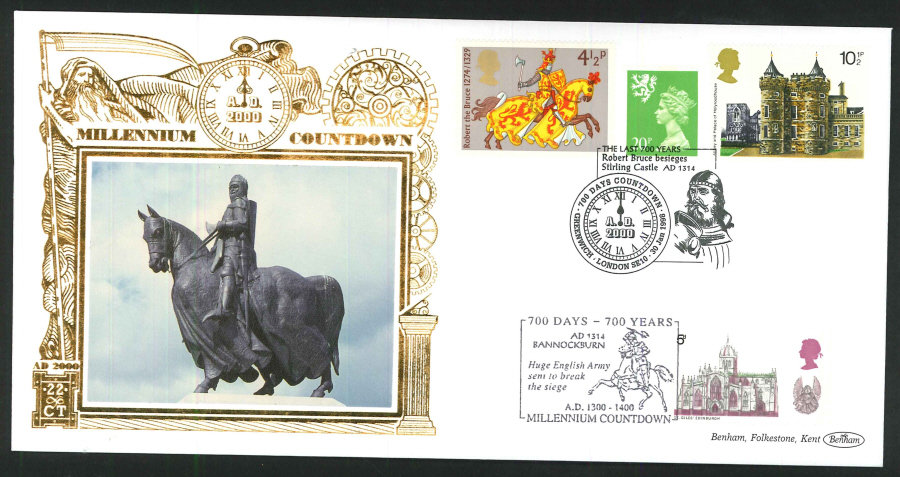 1998 -Millennium Countdown Commemorative Cover - 700 Days Countdown, Greenwich Postmark