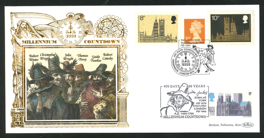 1998 - Millennium Countdown Commemorative Cover - 400 Days Countdown, Greenwich Postmark