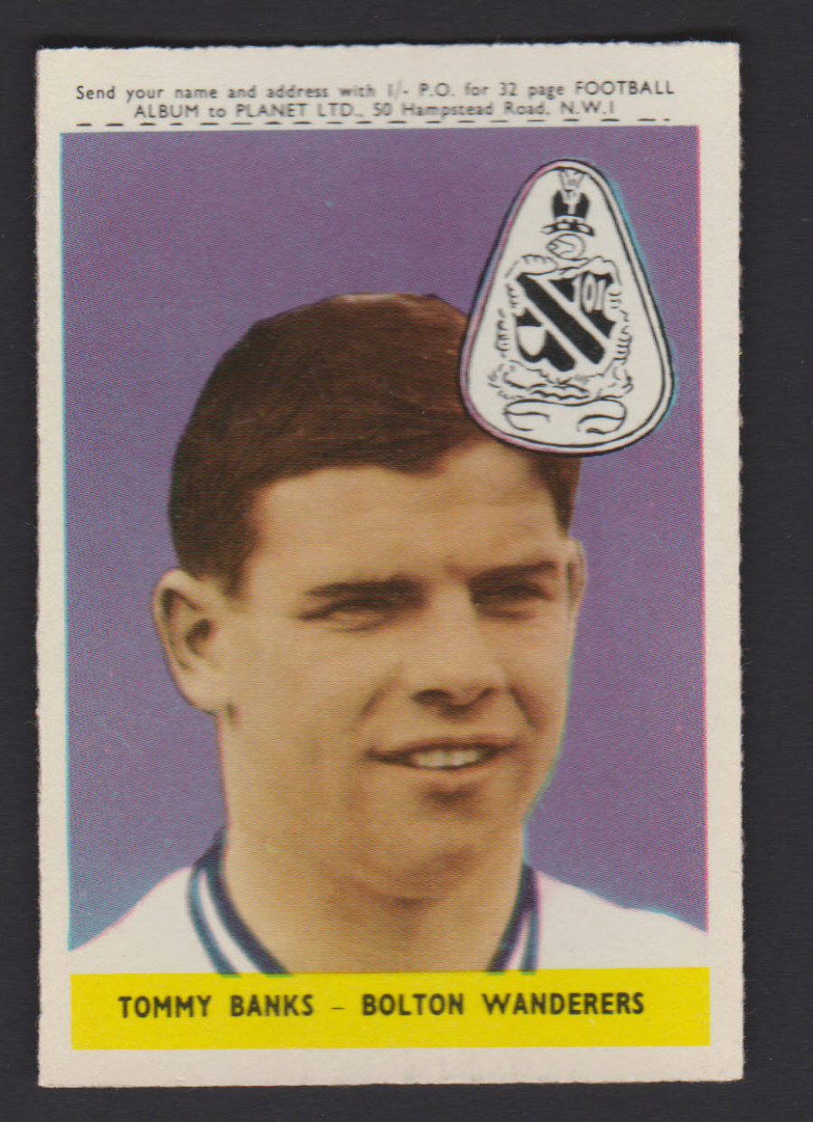 A & B C Footballers Planet No 43 Tommy Banks Bolton Wanderers